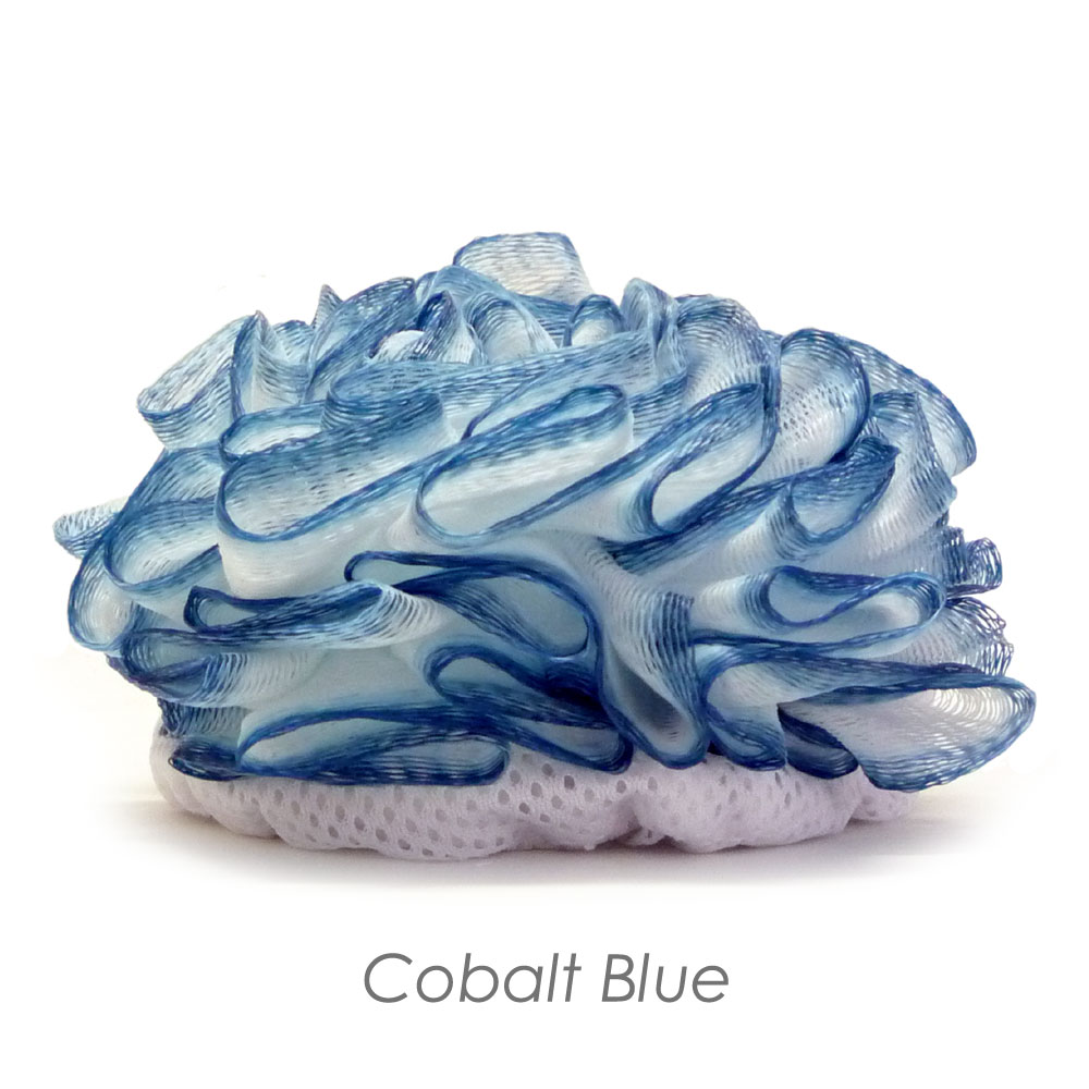 Cobalt Blue Lux Puff Loofah / Bath Tool