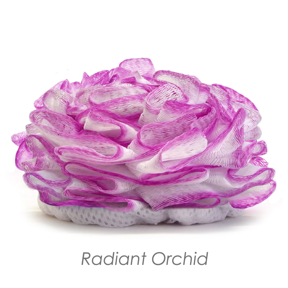 Radiant Orchid Lux Puff Loofah / Bath Tool